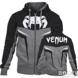 Купить Толстовка Venum VENUM SHOCKWAVE 3.0 HOODY - GREY/BLACK (арт. 3527)