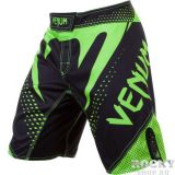 Купить Шорты ММА Venum Hurricane Fight shorts - Black/Neo Yellow (арт. 4718)