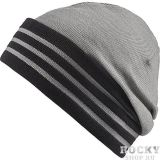 Купить Шапка Performance Stripes Beanie серо-черная Adidas (арт. 7764)