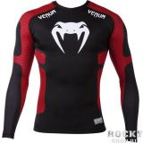 Купить Рашгард Venum Absolute Compression T-Shirt - Black/Red Long Sleeves (арт. 3739)