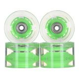 Купить Колеса для лонгборда SUNSET SKATEBOARDS Conical Longboard Wheel Set With Abec9 SS Green 65 mm, Китай
